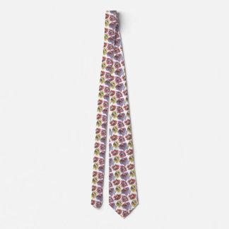 Pug Flowers Tie