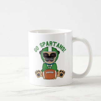 Pug Football Player Go Spartans! Basic White Mug