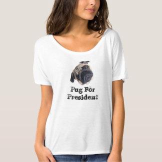 Pug For President - Head Tilt - Women's Shirt