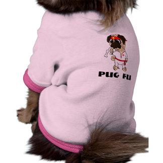 Pug Fu Karate Pug Dog Ringer Dog Shirt