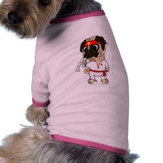 Pug-Fu Pug Doggie Ringer T-Shirt Pet Tee