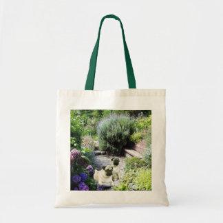 Pug Garden Tote Bag