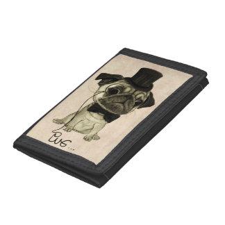 Pug; Gentle Pug Trifold Wallet