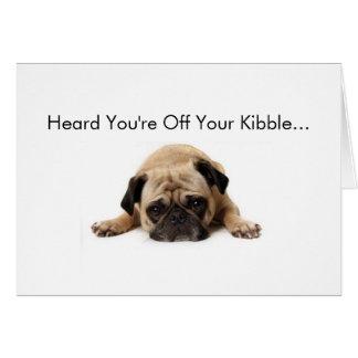 Pug Get Well Soon Card
