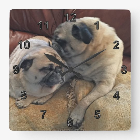 Pug Gifts for Pug Lovers or Your PHOTO Clock