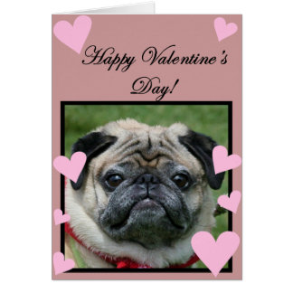 Pug Happy Valentine's Day Greeting card