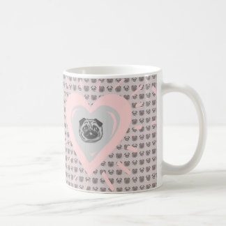 pug heart mug