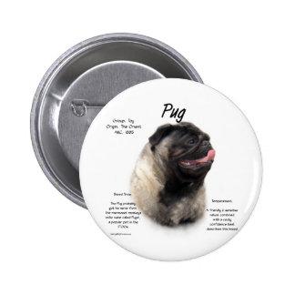 Pug History Design Pin