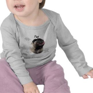 Pug History Design T Shirts