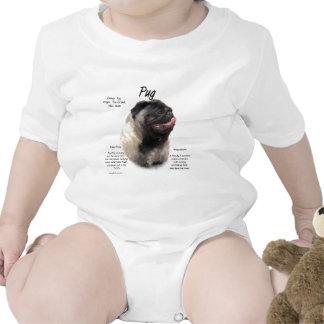 Pug History Design Tshirts