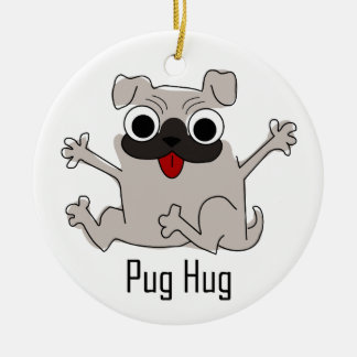 Pug Hug Christmas Ornament