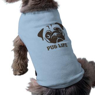 Pug Illustration Sleeveless Dog Shirt