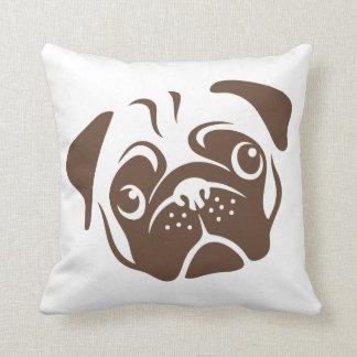 Pug Illustration Throw Pillow