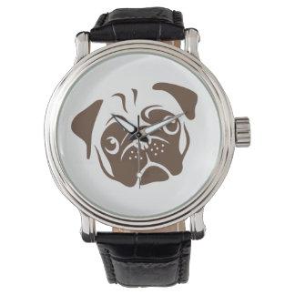 Pug Illustration Wrist Watch