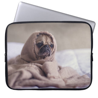 Pug in A Blanket Cute Pug Laptop Sleeve