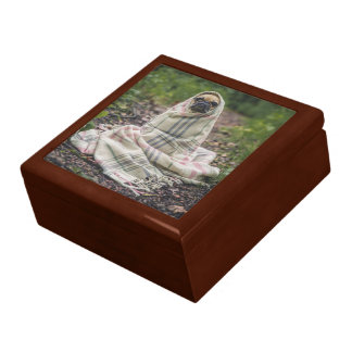 Pug In A Blanket Large Square Gift Box