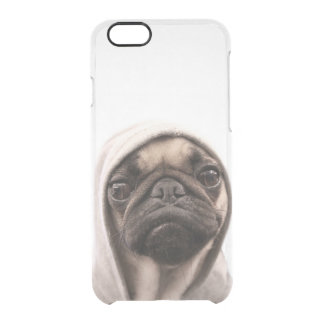 Pug In A Hoodie Clear iPhone 6/6S Case