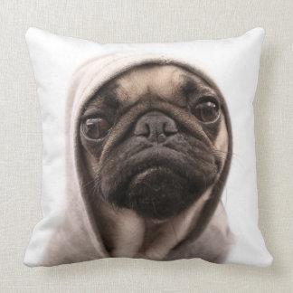 Pug In A Hoodie Cushion