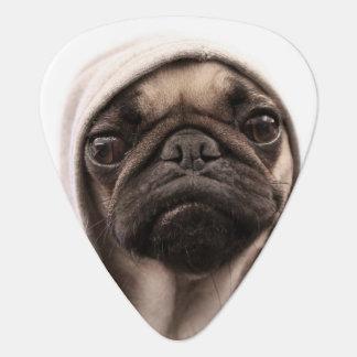 Pug In A Hoodie Guitar Pick