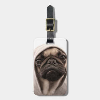 Pug In A Hoodie Luggage Tag