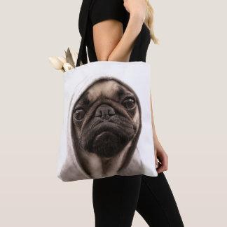 Pug In A Hoodie Tote Bag