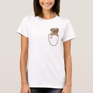 Pug In A Pocket Cute Womens T-Shirt Pugs Dog Puppy