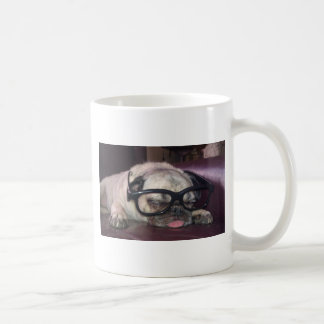 Pug In Glasses Coffee Mug