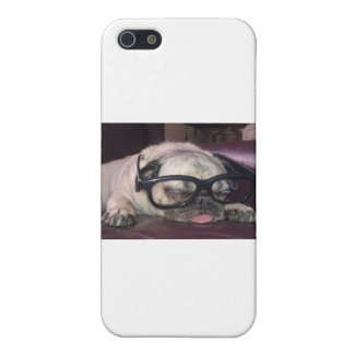 Pug In Glasses iPhone 5/5S Covers