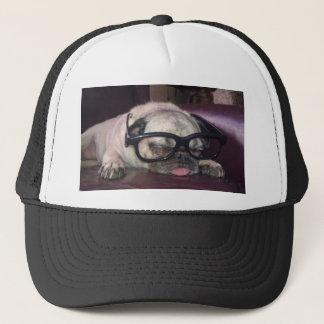 Pug In Glasses Trucker Hat