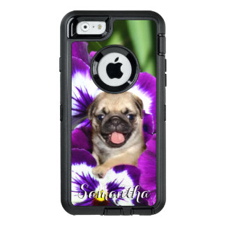 Pug in Pansies Otterbox phone case