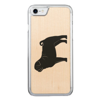 Pug in Silhouette Carved iPhone 8/7 Case