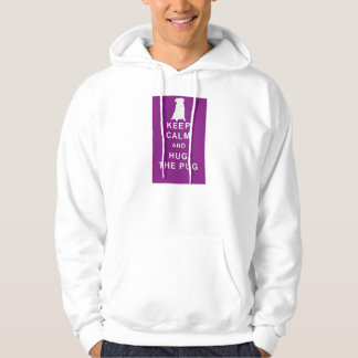 PUG KEEP CALM HOODIE BIRTHDAY