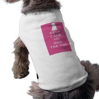 PUG KEEP CALM HUG THE PUG DOG T SHIRT COAT