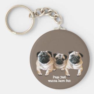 Pug Keychain