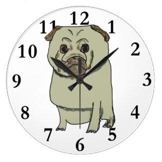Pug Large Clock