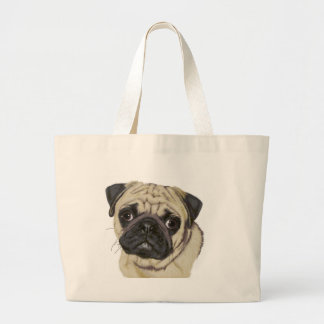 Pug Large Tote Bag