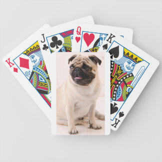 Pug life bicycle playing cards