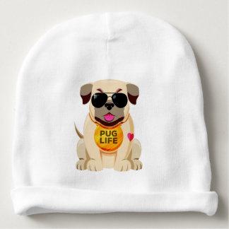 Pug Life custom name baby beanie