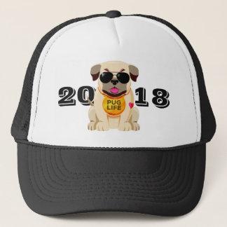 Pug Life custom text hats