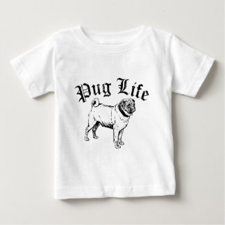 Pug Life Funny Dog Gangster Baby T-Shirt