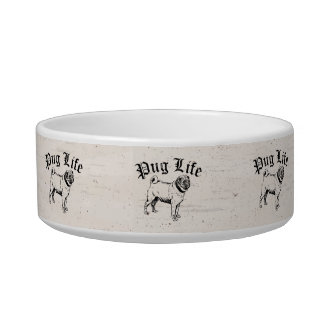 Pug Life Funny Dog Gangster Bowl