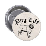 Pug Life Funny Dog Gangster Buttons
