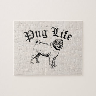 Pug Life Funny Dog Gangster Jigsaw Puzzle