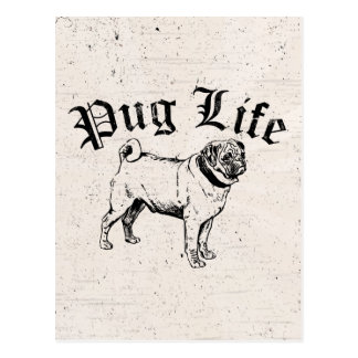 Pug Life Funny Dog Gangster Post Card