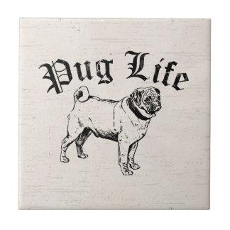 Pug Life Funny Dog Gangster Tile