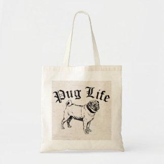 Pug Life Funny Dog Gangster Tote Bag
