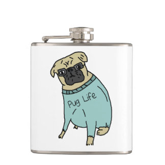 Pug Life - Funny Dog In A Sweater Flasks