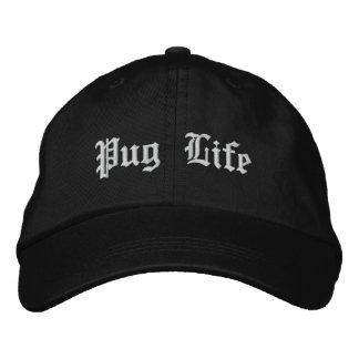 Pug Life Funny Pug Dog Embroidered Cap