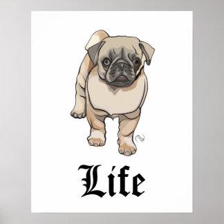 Pug Life - Funny Pun Poster