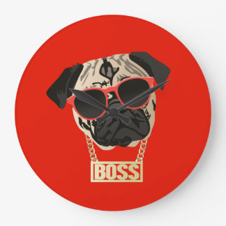 Pug Life - I am the Boss Clock for Pug Parents